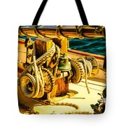 Ships Bell Sailboat Tote Bag