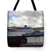 Ships In Lerwick Harbour Tote Bag