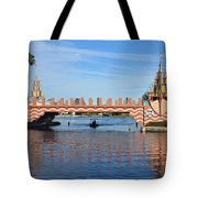 Ships On Waves Bridge Tote Bag