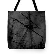 Ships Silhouette Tote Bag
