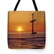 1a4145-a1-e-shipwreck In The Bay Tote Bag