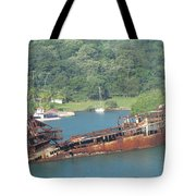 Shipwreck Of Roatan Honduras Tote Bag