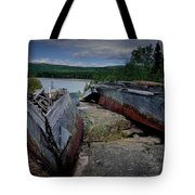 Shipwrecks At Neys Provincial Park No.3 Tote Bag