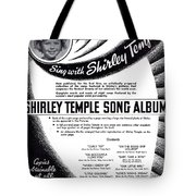 Shirley Temple Song Album Tote Bag