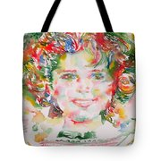 Shirley Temple - Watercolor Portrait.1 Tote Bag