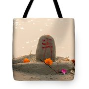 Shivling From Sand Tote Bag