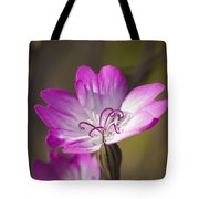 Shocking Pink Chenille Tote Bag