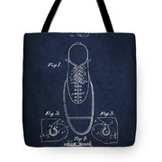 Shoe Eyelet Patent From 1905 - Navy Blue Tote Bag