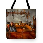 Shoemaker - The Cobblers Shop Tote Bag by Mike Savad