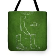 Shoes And Boots Crimping Board Patent From 1881 - Green Tote Bag