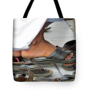 Shoes At The Door Tote Bag