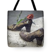 Shoes On The Danube Bank Tote Bag