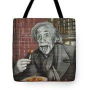 Shop Window Metal Blind Einstein Tote Bag