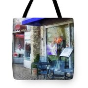 Shopfront - Music And Coffee Cafe Tote Bag