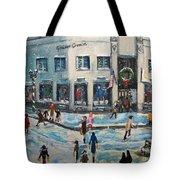 Shopping At Grover Cronin Tote Bag by Rita Brown