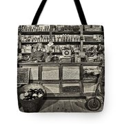 Shopping At The General Store Tote Bag by Priscilla Burgers