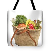 Shopping For Orrganic Fruit And Vegetables  Tote Bag