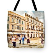 Shopping In Menorca Tote Bag