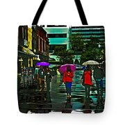 Shopping In The Rain - Knoxville Tote Bag