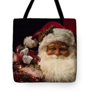 Shopping Mall Santa Tote Bag