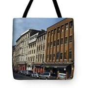 Shops And Buildings Along Rue Saint-paul Old Montreal Tote Bag
