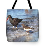 Shorebirds And Breaking Wave Tote Bag