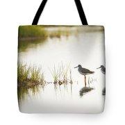 Shorebirds At Dusk Tote Bag