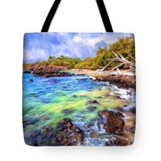 Shoreline At Puako Tote Bag