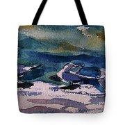 Shoreline Birds Iv Tote Bag