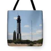 Short And Tall Cape Henry Lights Tote Bag
