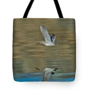 Short-billed Dowitcher And Reflection Tote Bag