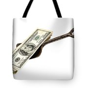 Shovel Of Dollar Tote Bag