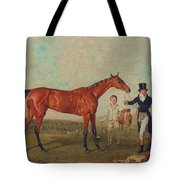 Shoveller Held By Her Trainer Will Chifney Tote Bag by Benjamin Marshall