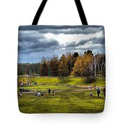 Showground Steam Carousel Tote Bag