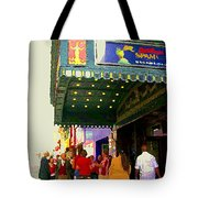 Showtime Toronto's Broadway Monty Python Spamalot Theatre District The Plays The Thing City Scenes Tote Bag