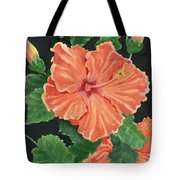 Showy Hibiscus Tote Bag