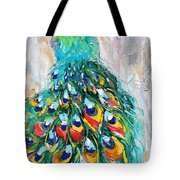 Showy Peacock Tote Bag
