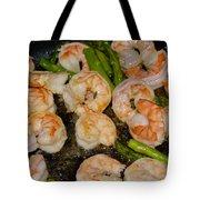 Shrimp And Asparagus Tote Bag