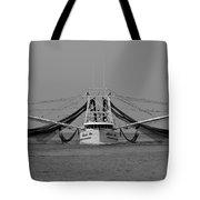 Shrimp Boat - Bw Tote Bag