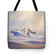 Shrimp Boat On The Gulf Tote Bag