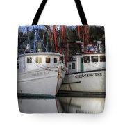 Shrimp Boats Reflecting Tote Bag