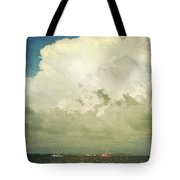 Shrimp Boats Headed Out Tote Bag