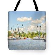 Shrimp Boats In Georgetown Sc Tote Bag