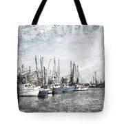 Shrimp Boats Sketch Photo Tote Bag