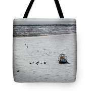 Shrimping In Mobile Bay Tote Bag
