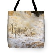 Shrubs In The Rapids #2 Tote Bag