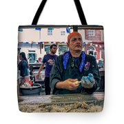 Shucking Oysters In The French Quarter Tote Bag