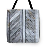Weathered Wooden Shutters Tote Bag