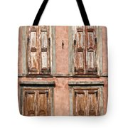 Four Wooden Shutters Tote Bag