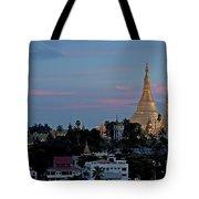 Shwedagon Pagoda In Yangon Myanmar Tote Bag